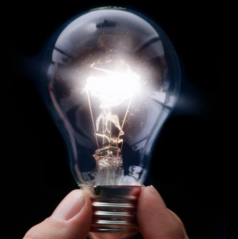Megfelelő megvilágítás, világító villanykörte