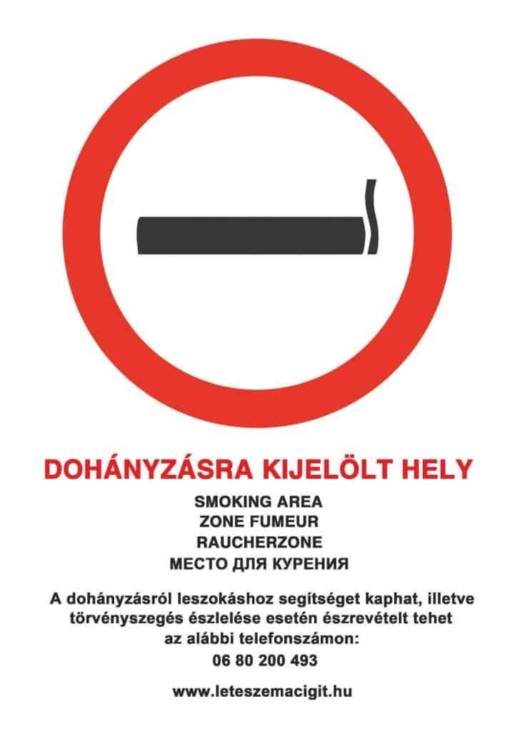 permetezni tilos a dohányzás